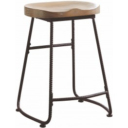 Rec Room Driftwood Counter Height Stool