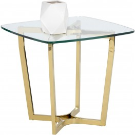 Archer Yellow Gold Metal End Table
