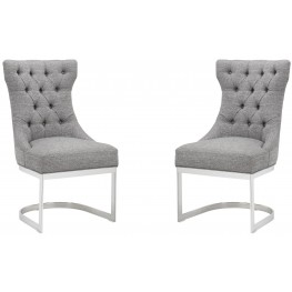 Bleecker Milestone Grey Dining Chair Set of 2