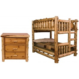 Traditional Cedar Bunk Bedroom Set