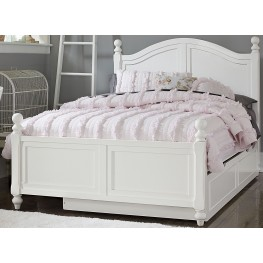 Lake House White Payton Full Arch Panel Bed With Trundle