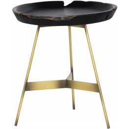 Montoya Weathered Black Side Table