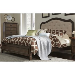 Berkley Heights Antique Washed Walnut King Panel Bed