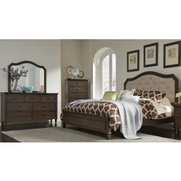 Berkley Heights Antique Washed Walnut Panel Bedroom Set