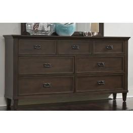 Berkley Heights Antique Washed Walnut 7 Drawer Dresser