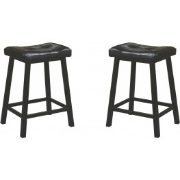 Rec Room Black Upholstered Counter Height Stool Set of 2