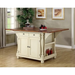 White Buttermilk/Cherry Kitchen Island 102271