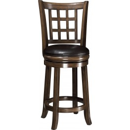 "102639 Oak 24""H Swivel Bar Stool"