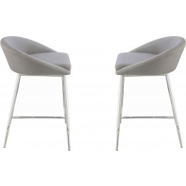 Rec Room Grey Upholstered Counter Height Stool Set of 2