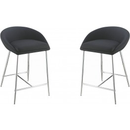 Rec Room Dark Grey Upholstered Counter Height Stool Set of 2