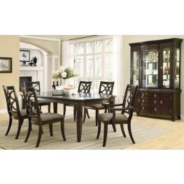 Meredith Espresso Rectangular Dining Room Set
