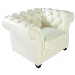 Victoria White Leather Chair