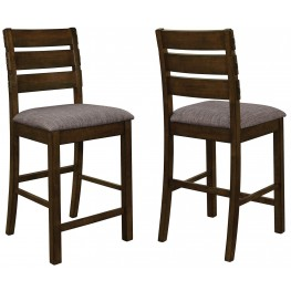 Wiltshire Rustic Pecan Counter Height Chair Set of 2