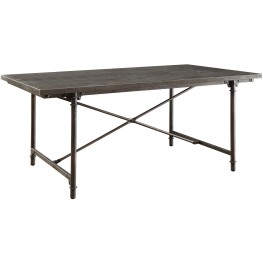 Antonelli Blue Stone and Metal Rectangular Dining Table by Donny Osmond