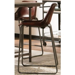 Kirkwood Antique Brown Goat Leather Counter Height Chair by Donny Osmond Set of 2