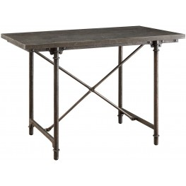 Kirkwood Blue Stone and Metal Rectangular Counter Height Table by Donny Osmond