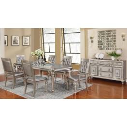 Danette Metallic Platinum Rectangular Dining Room Set