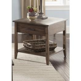 Brookstone Weathered Oak End Table