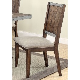 Beckett Beige and Natural Mango Side Chair Set of 2