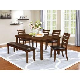 Maxwell Golden Brown Dining Room Set