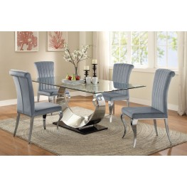 Manessier Chrome Dining Room Set