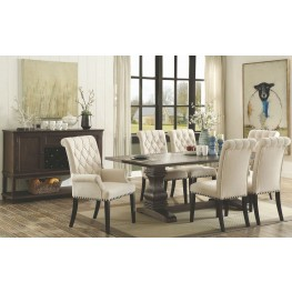 Parkins Rustic Espresso Rectangular Dining Room Set
