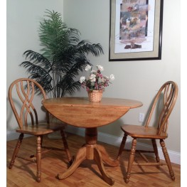"Four Seasons 40"" Rustic Oak Drop Leaf Dining Room Set"