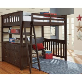 Highlands Espresso Full Loft Bed