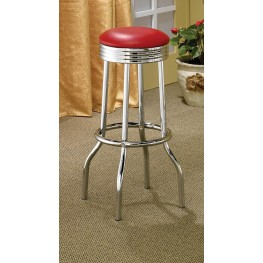 Mix & Match Red Bar Stool 2299R Set of 2