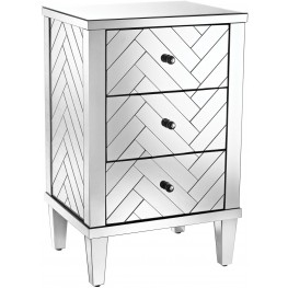 Chatelet Clear Mirror Finish Chest 3-Drawer