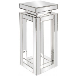 Mirrored Small Pedestal Table