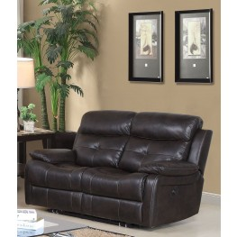 Metro Jordan Java Power Reclining Loveseat
