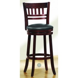 Edmond Swivel Cherry Counter Height Chair Set of 2