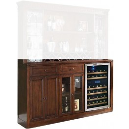 Manchester Distressed Walnut Back Bar