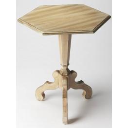 Plantation Cherry Corbin Driftwood Hexagonal Accent Table
