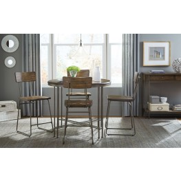 Oslo Brown Wood Counter Height Dining Room Set