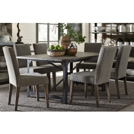 Caldwell Dining Brown Trestle Dining Room Set