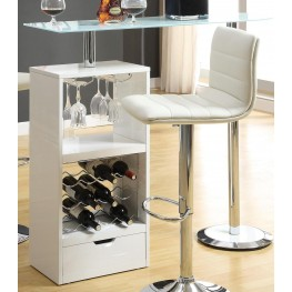 White Revolving Bar Table 120452
