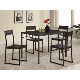 Cappuccino 5 Pcs Counter Height Dining Room Set 120569
