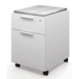 Pro-Linea Assembled Mobile Pedestal In White