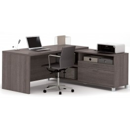 Pro-Linea Bark Grey L-Desk