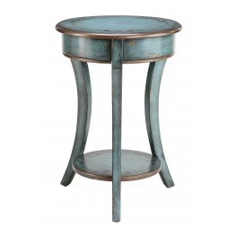 Round Accent Table with Curved Legs