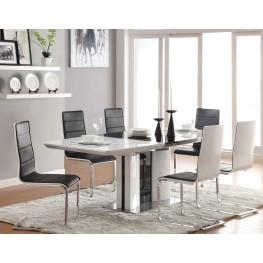 Broderick Modern White Dining Room Set