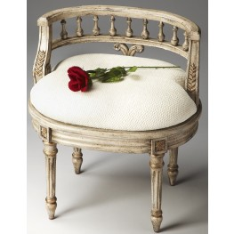 Artists' Originals Guilded Cream Vanity Seat