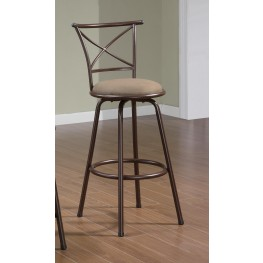 "Brown 29"" Counter Height Stool 122030 Set of 2"