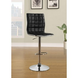 Waffle Black Bar Stool Set of 2