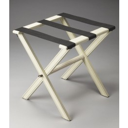 Masterpiece Cottage White Luggage Rack