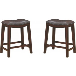 Rec Room Two-Tone Upholstered Counter Height Stool Set of 2