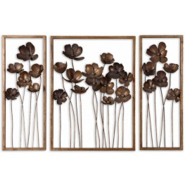 Metal Tulips Wall Art Set of 3