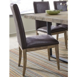 Haley Springs Brown Upholstered Side Chair Set of 2